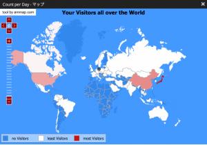 アフリカ大陸以外の、ほぼ全ての国と地域からアクセスが・・・。